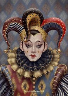 Maxine Gadd published fairy and fantasy artist. Exceptional digital illustrations and mystical beings Fantasy Kunst, Fantasy Art, Beste Gif, Art Du Cirque, Steampunk Kunst, Jester Costume, Court Jester, Clowns, Photo D Art