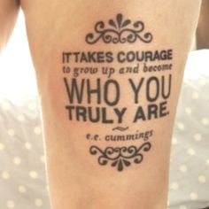 maybe not a tat, but a great quote