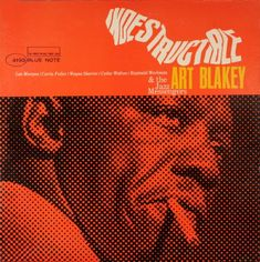Indestructible by Art Blakey. Cover design by Reid Miles. Blue Note http://www.gokudo.co.jp/Record/BlueNote4/abn40002%20099.jpg