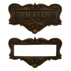 "Adorned+Solid+Brass+""Mail""+Letter+Slot"
