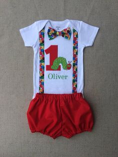 The Very Hungry Caterpillar Birthday Outfit , Caterpillar Smash Cake Outfit, Caterpillar First Birthday - aktivity pro Oliho - First Birthday Outfits Boy, Baby Girl Birthday Outfit, Birthday Party Outfits, 1st Boy Birthday, Birthday Ideas, Birthday Cake, Birthday Parties, Birthday Banners, Birthday Recipes