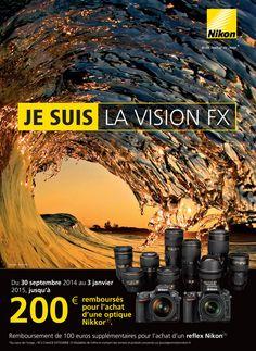 Les promotions Nikon sont de retours à l'automne 2014 avec une offre sur les optiques plein format Nikkor FX. Du 30 septembre 2014 au 3 janvier 2015, vous pouvez bénéficier d'un remboursement allant jusqu'à 200 euros selon l'optique choisie. Voici le détail et les modalités de l'offre. #nikon #promotion #cashback
