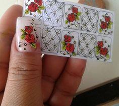 Nails, Roses, Cartoon, Instagram, Nail Jewels, Gel Nail, Nail Stickers, Flower Nails, Nail Designs