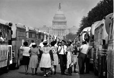 A Visual History Of How The March On Washington Became One Of The Biggest Protests Ever | Business Insider By one account, buses flooded the capital at a rate of 100 per hour.