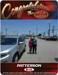 Congratulations to Vicki Taylor on her new 2014 Sorento!! - From Blake Mawson at Patterson Kia