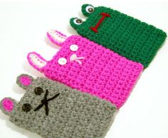crochet cell phone cases   Crocheted cuties for iPods and cell phones