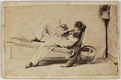 """And the library suspects this pose may have been influenced by an S.T. Gill watercolour. 