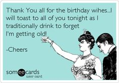Free Thanks Ecard Thank You All For The Birthday WihesI