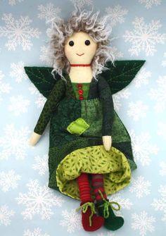 Fabric Art Doll Cloth doll Patchwork Woodland by PuffinPatchwork