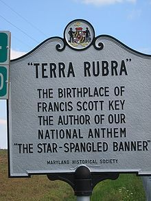 """TERRA RUBRA""  The birthplace of Francis Scott Key, the author of our National Anthem ""The Star-Spangled Banner"" - Maryland Historica Society"