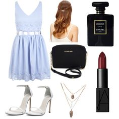 Date With Luke by penguins-lily on Polyvore featuring polyvore fashion style Miss Selfridge Stuart Weitzman Michael Kors NARS Cosmetics Chanel