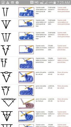 Best 12 best 12 100 crochet symbols and how it looks after crocheting words are in spanish and it is a jpeg so it cannot be translated – skillofking com Puff Stitch Crochet, Crochet Chart, Crochet Stitches Patterns, Crochet Basics, Knitting Patterns, Diy Crafts Crochet, Crochet Instructions, Crochet Squares, Japanese Crochet