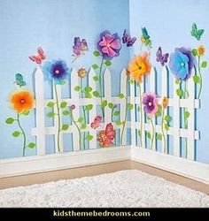 Create a Garden Room Picket Fence-garden theme bedrooms