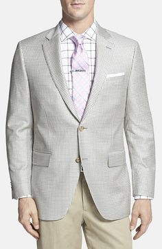 Men's Big & Tall Peter Millar Classic Fit Check Wool Sport Coat