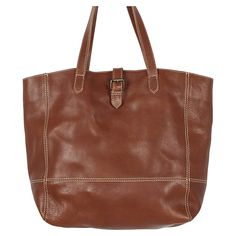 Buy Fat Face Lily Large Leather Buckle Tote Bag, Chestnut Online at johnlewis.com