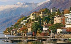 "sunsurfer: ""Lake Paradise, Ascona, Tessin, Switzerland photo via westeastsouthnorth "" Oh The Places You'll Go, Places To Travel, Places To Visit, Lugano, Lausanne, San Gotardo, Switzerland Wallpaper, Switzerland Cities, Viajes"