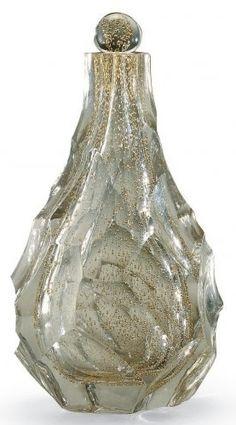 Maurice Marinot, glass bottle ca 1930