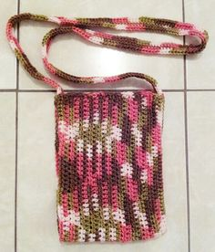 Pink camo satchel