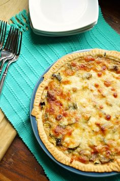 This Roasted Vegetable and Mozzarella Quiche is perfect for breakfast, lunch, or a light dinner. Packed with veggies and cheese, it couldn't be more delicious!