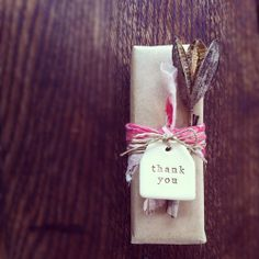 Handmade gift tag by paper boat press.