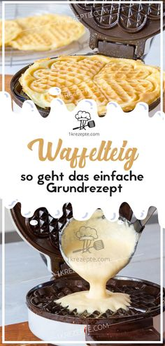 Waffelteig – so geht das einfache Grundrezept Waffle batter – this is how the simple basic recipe works Easy Cookie Recipes, Waffle Recipes, Cupcake Recipes, Baby Food Recipes, Mexican Food Recipes, Snack Recipes, Dessert Recipes, Simple Recipes, Desserts