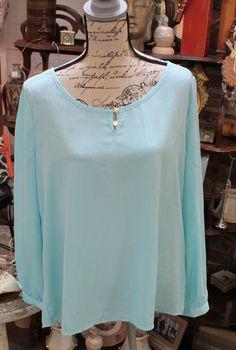 Plus size mint blouse $24