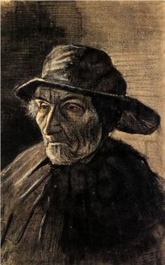 Head of a Fisherman with a Sou'wester - Vincent van Gogh