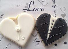 Bride and Groom Cookies  Simplicity wedding by WeddingCookieShoppe, $35.00…