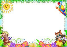 iQpTBmS Boarder Designs, Page Borders Design, Kids Background, Birthday Background, Borders For Paper, Borders And Frames, Certificate Of Achievement Template, Fruit Coloring Pages, Diy And Crafts
