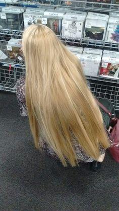 Beautiful Long Hair, Gorgeous Hair, Waist Length Hair, Blonde Hair Looks, Really Long Hair, Aesthetic Hair, Green Hair, Hair Lengths, Dyed Hair