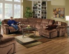 This Championship reclining sectional is too awesome - plenty of room for everyone, and you can put your feet up! ($1898)