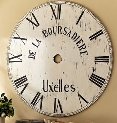 Giant Wall Clock, Recycled Wire Spool | DIY | Pinterest | Giant Wall Clock,  Wire Spool And Wall Clocks