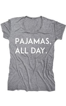 pajamas all day. yes, please.