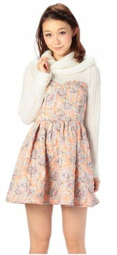 Liz Lisa Floral Print Winter Dress