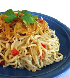 Chicken Spaghetti - One-Step White Sauce - 4 tablespoons butter, 1 cup finely chopped onion, 1/2 cup finely chopped red bell pepper, 1/2 cup chopped green bell pepper,1 teaspoon minced garlic, 3 cups cold milk, 1/4 cup quick-mixing flour,  1 teaspoon seasoned salt,1/8 teaspoon cayenne pepper, 1/2 teaspoon freshly ground black pepper  2 teaspoons fresh lemon juice, 1 teaspoon dried tarragon or thyme leaves, 1/2 cup Parmesan cheese