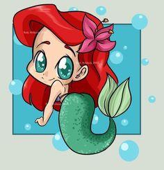 ariel, cute, disney, drawings, girl