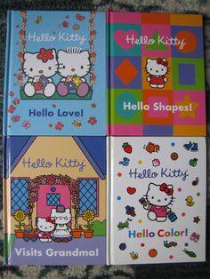 Hello Kitty Lot 4 Hardcover Books VGUC Shapes Colors Visits Grandma Hello Love