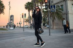 Sunglasses: The Valley Shoes: Helmut Lang Sweather: Acne Bag: Louis Vuitton Pants: Sundry