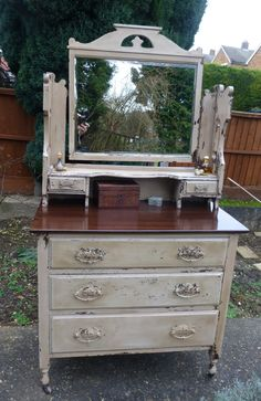 painted style: Edwardian dressing table in milk paint completed!