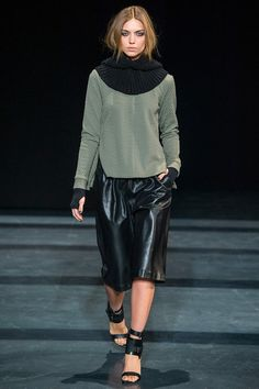 Tibi - I don't know if its the sweater, leather shorts, or the shoes but there is something I'm loving about this outfit