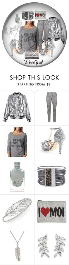 """sparkles sprinkle my donuts!"" by caroline-buster-brown ❤ liked on Polyvore featuring Sans Souci, DNY, Menbur, Kenneth Cole, Rebecca Minkoff, I Know The Queen, Delicates by Paloma & Ellie, Carolee, Jimmy Choo and sprinklesets"