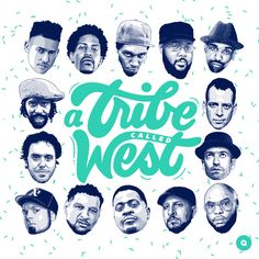 A tribe called west mixtape cover by Pixels & Aromates