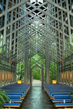 Thorncrown Chapel, a breathtaking woodland sanctuary.