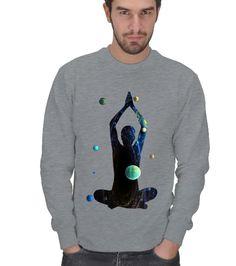 Kozmik Meditasyon Erkek Kışlık Sweatshirt Polar