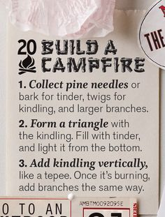 #20 on our Summer Bucket List: Build a campfire, Wholeliving.com