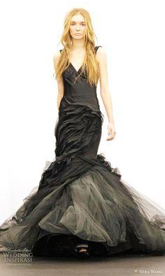 Vera Wang black wedding dress fall 2012