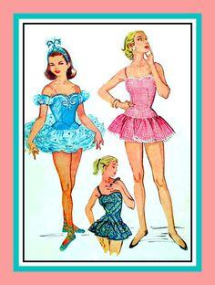 Vintage 1955  Ballet Costume Tiara Bathing by FarfallaDesignStudio, $95.00