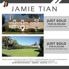 Multiple Listing Service repost from @jamietian Check out some of my recently sold properties in Beverly Hills! Contact me for the finest representation when buying or selling your next home! #realestate #realtor #realtorlife #beverlyhills #luxuryrealestate #rodeorealty #90210 #losangeles#SocialMediaMLS #MultipleListingService