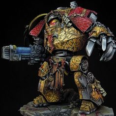 CRAZY freehand work on this Minotaurs Contemptor Dreadnought! Loving the work on this model, work by ・・・ Hecaton Aiakos, ph Warhammer 40k Figures, Warhammer Paint, Warhammer Models, Warhammer 40k Miniatures, Warhammer 40000, Space Marine, Fantasy Armor, Dark Fantasy, Night Lords