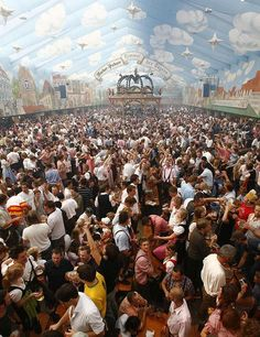 Oktoberfest, Munich......lucky to have been here. Sat down and Booya.....the people next to us were from my birthplace and knew my cousins.